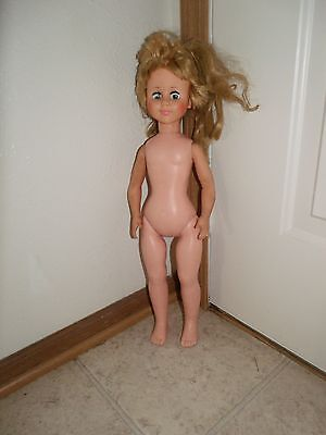 "1950s-60s 21"" Eegee Co Doll w/ Sleepy Eyes Blonde Cute Face"