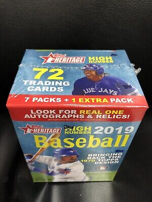 2019 Topps Heritage High Number Baseball Blaster Box.~8pk/9 Cards Per Pack.~