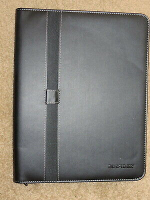 Excellent Day-timer Daytimer Black Business Zippered Folio For 8.5x11 Paper