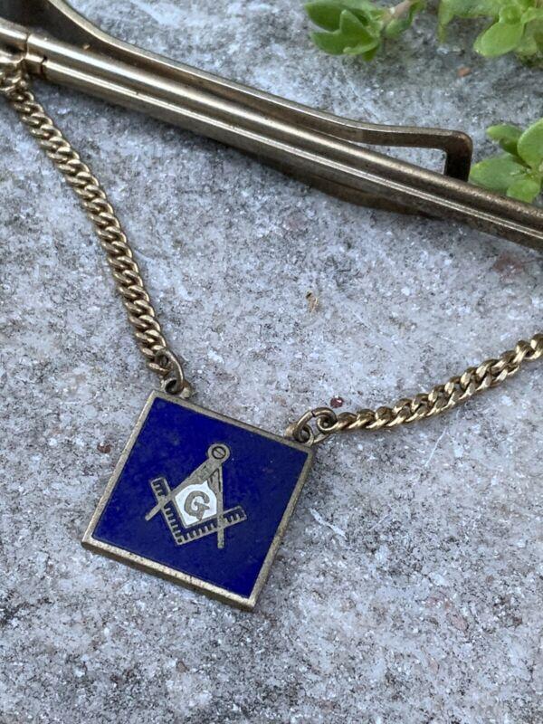 Vintage Masonic Enamel Tie Clip