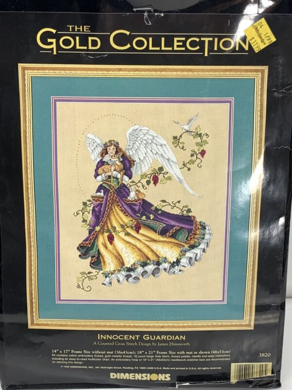 Dimensions Gold Collection Cross Stitch Kit 3820 Innocent Guardian Himsworth