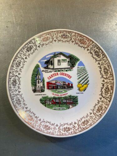 "Vintage Souvenir Plate - Georgia 9.5"" - Plains, Carter Country"