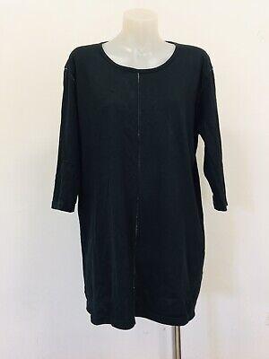 KAZUYUKI KUMAGAI (ATTACHMENT) Size 4 10 - 12 Black Cotton TEE Cotton Rayon JAPAN