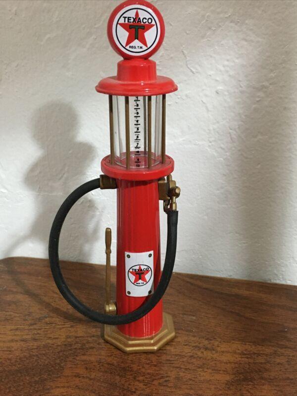 """Texaco Fire Chief Gasoline 1920 Wayne Gas Pump Miniature Red Black Hose 5"""""""