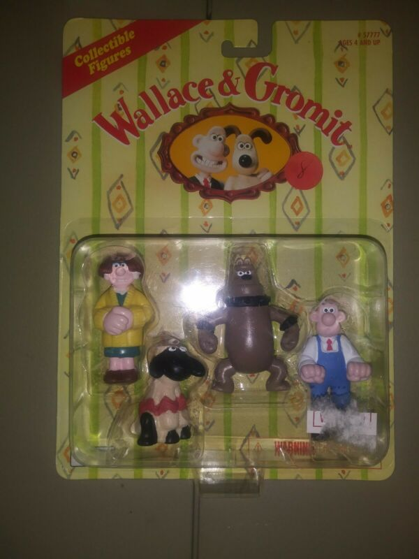 Wallace & Gromit Collectible Figures Wedolene Shaun The Sheep Preston NIP 1989