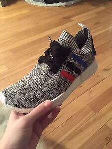 Adidas nmd r1 pk - tricolor - white - size 11.5