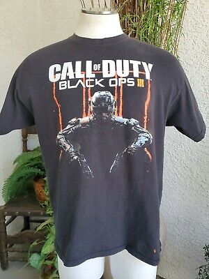 Vintage 2015 Call of Duty Black Ops 3 Character T-Shirt SZ L