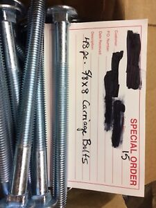 """48 - 5/8 x 8"""" carrige bolts"""