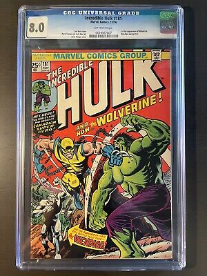 Incredible hulk 181 cgc 8.0 First Appearance Of Wolverine