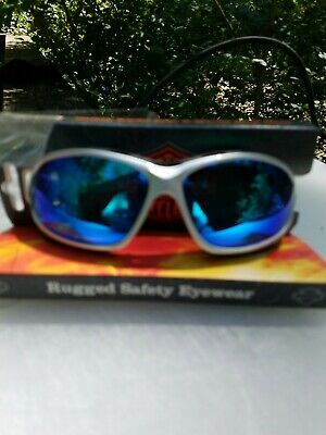 Brand New Harley Davidson Biker Riding Sunglasses Goggles Blue Mirror Tint