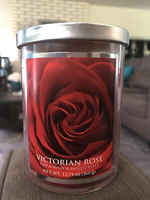 Victorian ROSE 12 oz. 1-wick Candle 1 Rose Candles