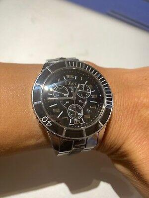 Christian Dior Christal Quartz Edelstahl Damen   Armbanduhr