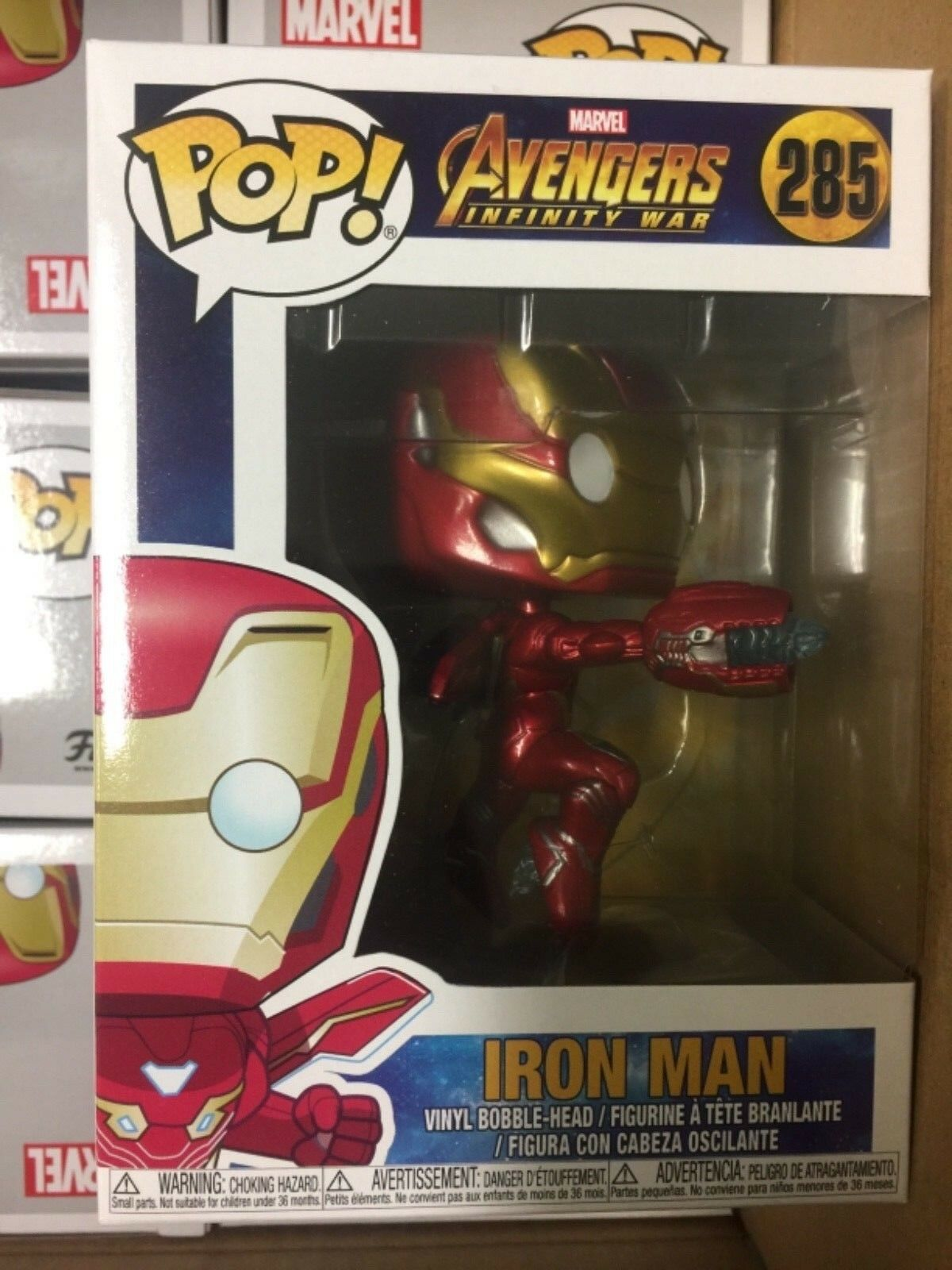Marvel Avengers Infinity War IRON MAN #285 Vinyl Figure Legends 2018 Funko POP