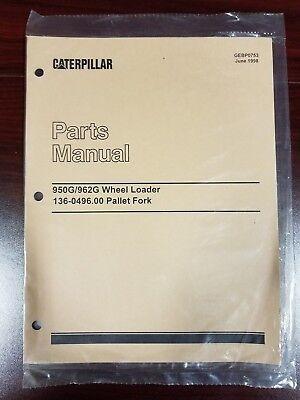 Parts Manual For 136-0496 Pallet Fork For 950g962g Wheel Loader