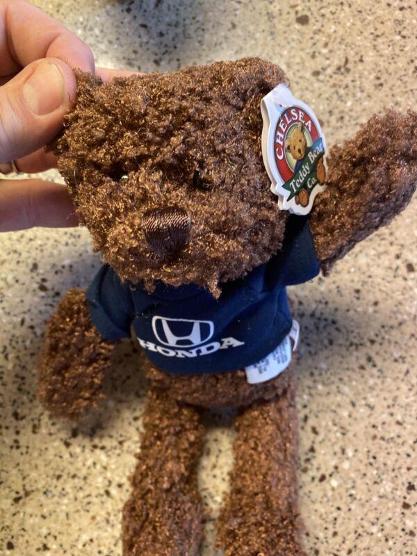 Brown Chelsea Teddy Bear Co Genuine Honda Plush Dealership Accessory Blue Shirt