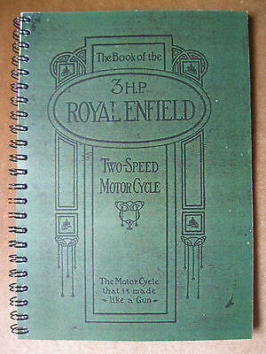 VETERAN   VINTAGE ROYAL ENFIELD 3 HP 2 SPEED BOOK 1913-?