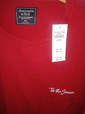 ABERCROMBIE AND FITCH MEN'S TIS THE SEASON PRINT T SHIRT SIZE XL