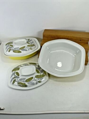 4pc. MCM Poole Pottery Covered Oblong Casseroles England MINT 1960