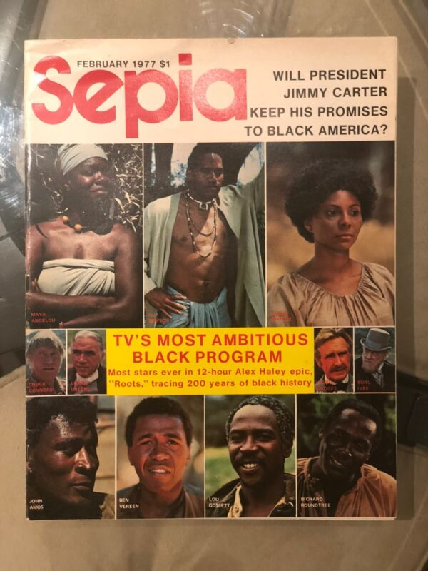 1977~ Sepia  Magazine~ (ROOTS) SLAVE- TV SHOW~A lot Of Pictures~ Black Americana
