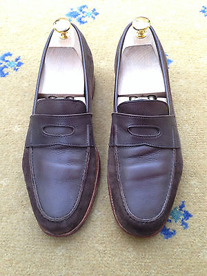 John Lobb Mens Shoes Brown Suede Leather Rio II Loafers UK 7 US 8 EU 41