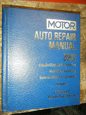 1998-2002 MOTOR ELECTRICAL AUTO SERVICE MANUAL FORD CHRYSLER GENERAL MOTORS