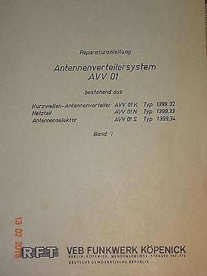 AVV01 Reparaturanleitung Bd1 Schaltbilder, RFT / FWB Funkwerk-Köpenick