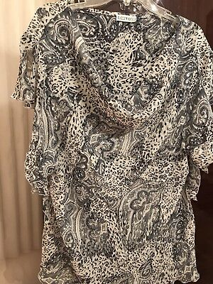 Kaelyn-Max-II 3X Grey Glittering Multicolor Blouse, used for sale  Torrance