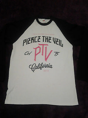 Pierce the Veil 2013 tour shirt baseball all time low sleeping with sirens