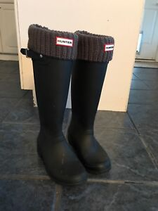 Hunter Rubber boots with grey liners