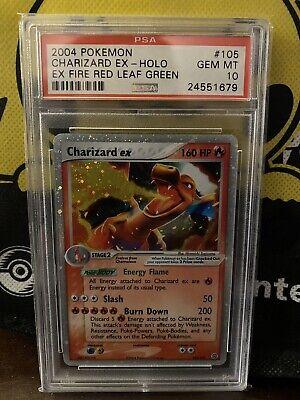 Pokemon 2004 EX Fire Red Leaf Green Charizard EX Holo 105/112 PSA 10 GEM MINT