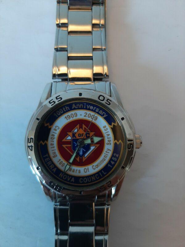 Knights Of Columbus Watch * 100th Anniversary * Terra Nova Council 1452 *...