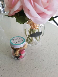 12 Glass Jars/Great party favours!!