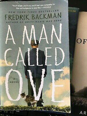 A Man Called Ove:A Novel by Fredrik Backman paperback very good cond free ship