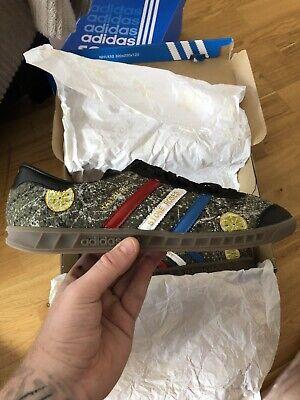 Adidas Hamburg Jungle , Stone Roses Customized, Size 9,Bnib.