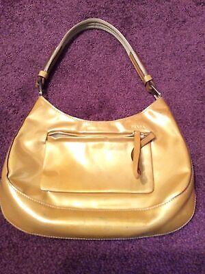 Vintage Prada Handbag Patent Leather Champagne Color