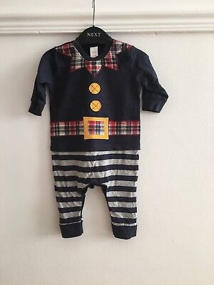 Baby Boy NEXT Elf Christmas Outfit Age 3-6 Months Fancy Dress Up Santas Helper](Next Elf Outfit)