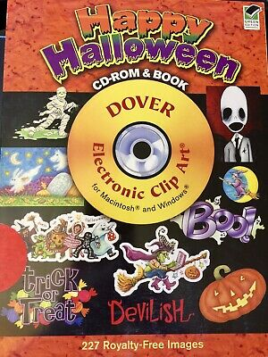 Happy Halloween Clip Art (Happy Halloween Clip Art Book & CD by Dover Publications Inc. with 227)