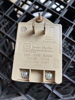 Used Plug-in Power Supply Transformer Be114820caa 120v 60hz 0.25a Basler
