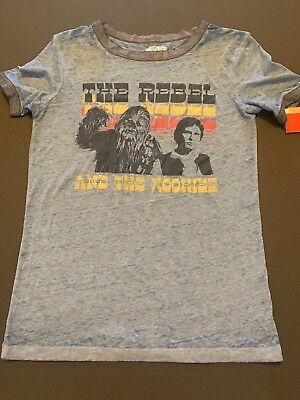 Women's Star Wars THE REBEL & WOOKIEE Graphic T-shirt - Blue - Fifth Sun #pb6