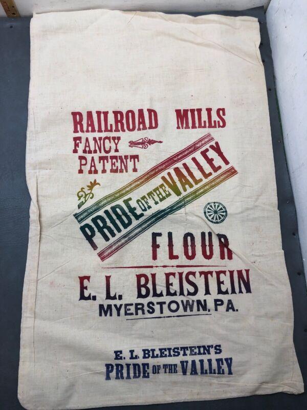 E L Bleistein Flour Feed Sack Myerstown PA 1890's Pride Lebanon Valley Railroad