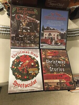 TM Books & Video Toy Train Christmas Magic 4 DVD Set No Boxholder Lionel Music