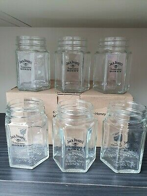 JACK DANIELS Tennessee Honey Mason Jar Cocktail Glass  x 6 NEW with Box 400ml