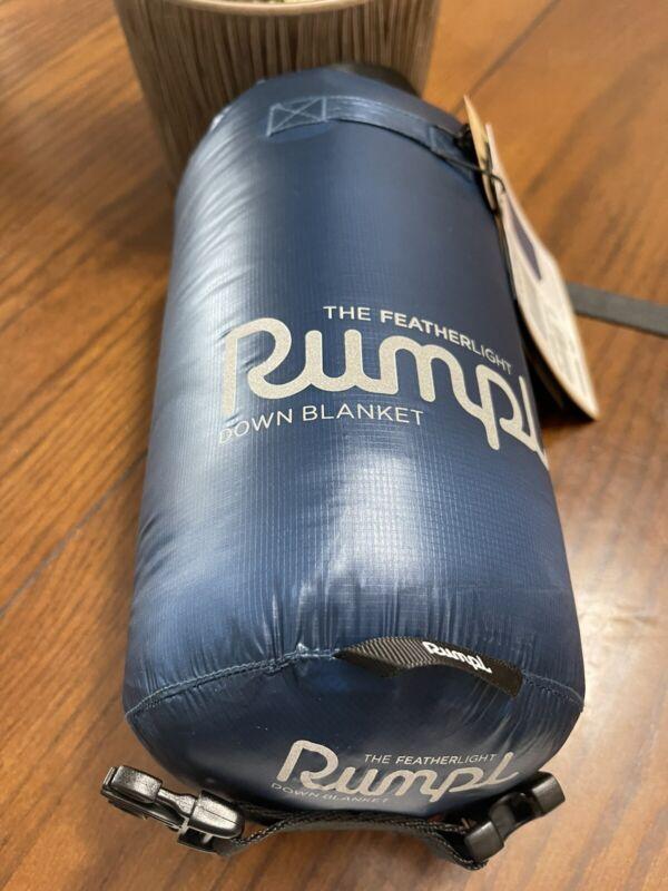 Rumpl Featherlite Down Navy/Royal Blue Blanket 52x75  $399