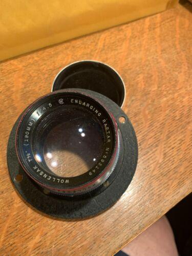 """Large Used Wollensak 7.5"""" 190mm f/4.5 Enlarging Raptar Lens + Metal Cap"""