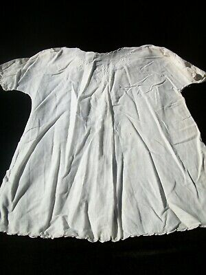 Vintage Baby Dress  White Infant Christening Gown C, used for sale  Shipping to India