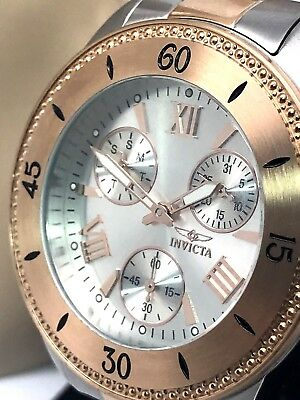 - Invicta 21686 Angel Rose & Silver Tone Stainless Steel Bracelet Women's Watch
