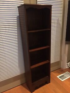 Antique Bookcase - Walnut - very Compact