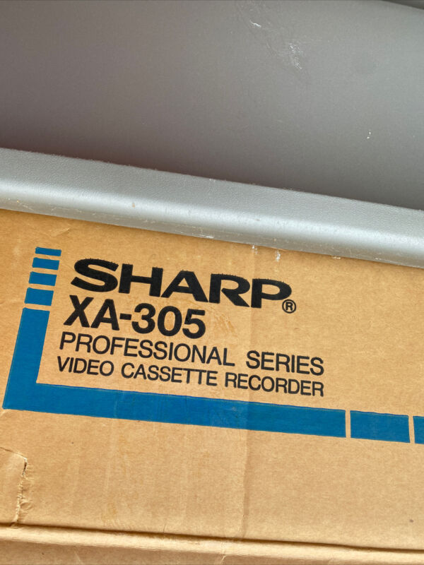Sharp AX-305 Professional Series Video Cassette Recorder, New Original Packaging