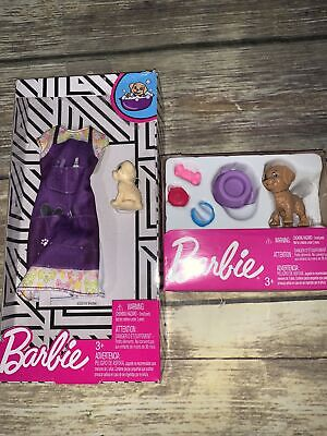Barbie Pet Puppy LOT Dog Groomer Outfit Set & Puppy Dog Accessories NEW Sealed