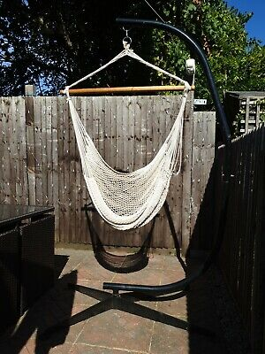 Solid C Hammock Stand Plus Hanging Mesh Chair